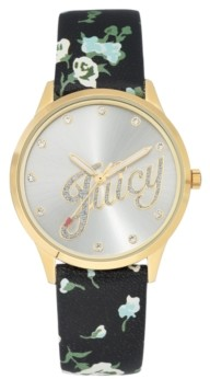 Juicy Couture Woman's Juicy Couture, 1072SVBK Strap Watch
