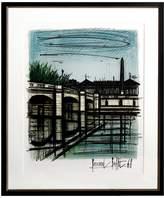 RoGallery Place de la Concorde by Bernard Buffet (Framed Lithograph)