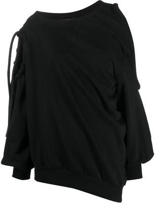 Diesel Cutout Draped Sweatshirt