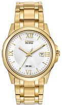 Citizen Mens Eco-Drive Goldtone Watch