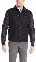 Calvin Klein Jeans Men's Coated Sleeve Trucker Jacket