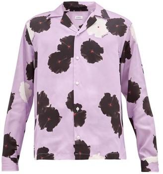 Saturdays NYC Marco Moonflower-print Lyocell Shirt - Mens - Purple Multi