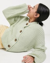 NATIVE YOUTH relaxed cardigan in chunky knit