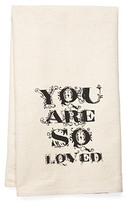 """""""You Are So Loved"""" Tea Towel, Black"""