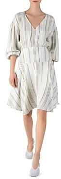 ATM Anthony Thomas Melillo Striped A-Line Dress