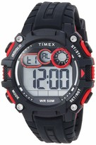 Timex Men's TW5M27000 DGTL Big Digit 48mm Black/Gray/Red Silicone Strap Watch