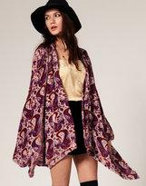 Jasmine Kimono Jacket in Velvet Burnout