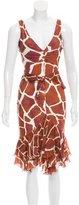 Roberto Cavalli Printed Midi Dress