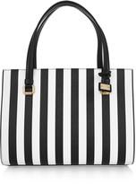 Dolce & Gabbana Olga striped textured-leather tote