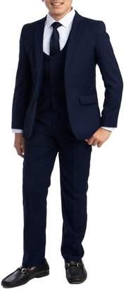 Perry Ellis Solid 5-Piece Suit (Big Boys)
