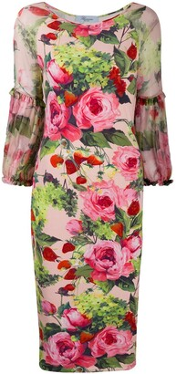Blumarine Floral Print Bodycon Dress