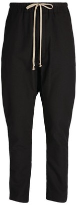 Rick Owens Dropped-Crotch Drawstring Trousers