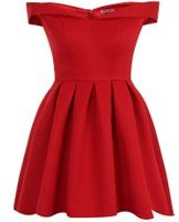 Dorothy Perkins Womens *Chi Chi London Petite Red Bardot Mini Dress- Red
