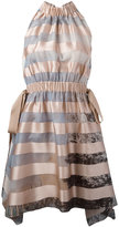 Fendi striped dress - women - Silk/Cotton/Polyester/Viscose - 42
