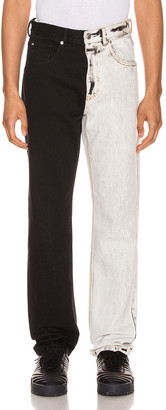 Alexander Wang Bicolor Denim Trouser in Acid White | FWRD