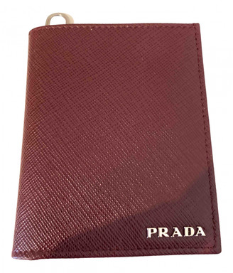 Prada Burgundy Leather Small bags, wallets & cases