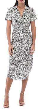 Baobab Collection Larson Speckle Print Shirt Dress