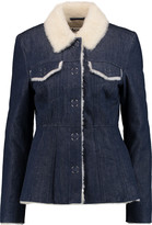 Acne Studios Lugan shearling-lined denim jacket