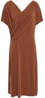 By Malene Birger Wrap-effect Draped Stretch-crepe Dress