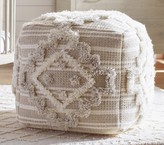 Pottery Barn Kids Moroccan Tufted Pouf, Natural/Blue