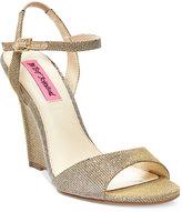 Betsey Johnson Duane Wedge Sandals Women's Shoes
