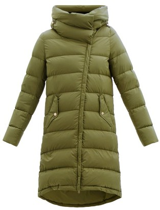 Herno Nuage Funnel-neck Quilted Down Hooded Coat - Khaki