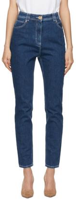Balmain Blue Raw Denim Skinny Jeans