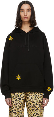 Perks And Mini SSENSE Exclusive Black Embroidered Hoodie