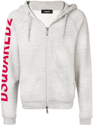 DSQUARED2 Rough Rider print hoodie