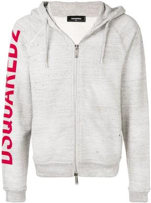 DSQUARED2 Rough Rider print hoodie
