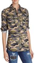 True Religion Studded Camouflage Shirt