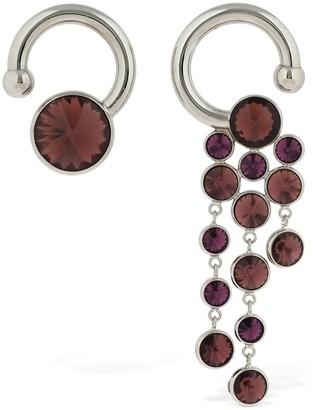 Sunnei Crystals Asymmetrical Earrings