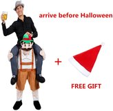 mascotshop Halloween Ride on Riding Shoulder Adult Beer Guy Costume Easter Mascot Pants Animal Fancy Dress (Ship By DHL)