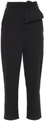 Nanushka Kedu Cropped Crinkled Tencel-blend Straight-leg Pants