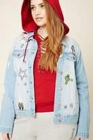 Forever 21 FOREVER 21+ Plus Size Denim Patch Jacket