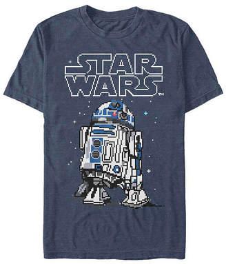 Fifth Sun Pixelated R2d2 Mens Crew Neck Short Sleeve Star Wars Graphic T-Shirt