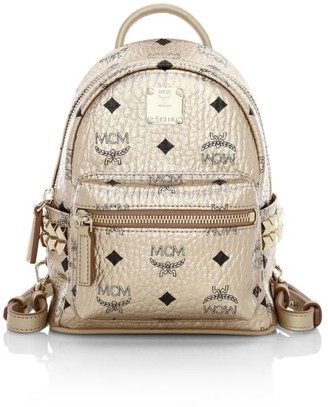MCM Extra Mini Stark Metallic Visetos Backpack