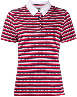Tommy Jeans Striped Logo Polo Shirt