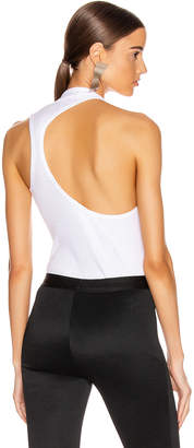 Helmut Lang Pulled Rib Tank Top in White | FWRD