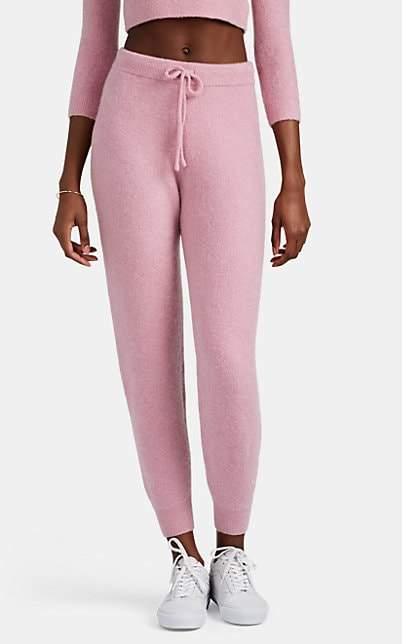 JoosTricot Women's Brushed Stretch-Cashmere Jogger Pants - Pink