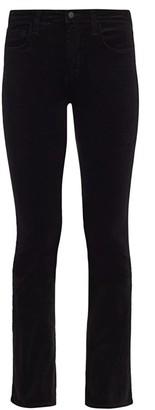 L'Agence Oriana High-Rise Velvet Straight-Leg Jeans