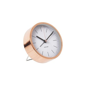 Karlsson Minimal Metal Alarm Clock - Copper