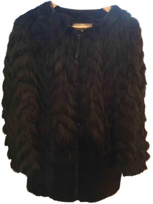 Gerard Darel Black Fox Coat for Women