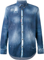 DSQUARED2 tie-dye denim shirt - men - Cotton/Spandex/Elastane - 46