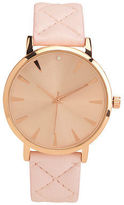 Aeropostale Womens Quilted Analog Watch Pink