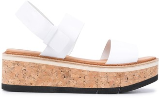 Paloma Barceló Open Toe Cork-Sole Sandals