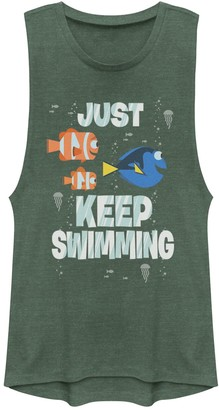 Juniors Disney/Pixar Finding Dory Just Keep Swimming Muscle Tank