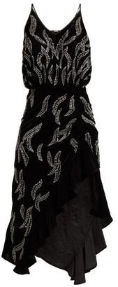 Dodo Bar Or Agnes Bead-embellished Velvet Dress - Womens - Black