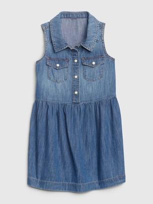 Gap Toddler Sleeveless Denim Dress