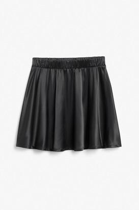 Monki Satin mini skirt